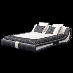 Кожена спалня AVA 160 - бяло-черно