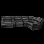 Кожен ъглов диван CORNER LUX с релакс механизъм