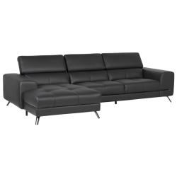 Кожен ъглов диван FIGARO